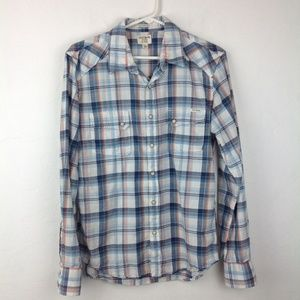 Plaid button-up California fit Lucky Brand shirt